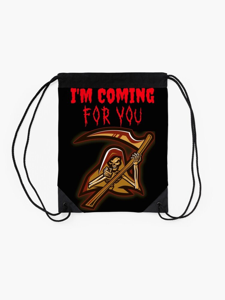 Alternate view of Grim Reaper is coming for you Drawstring Bag