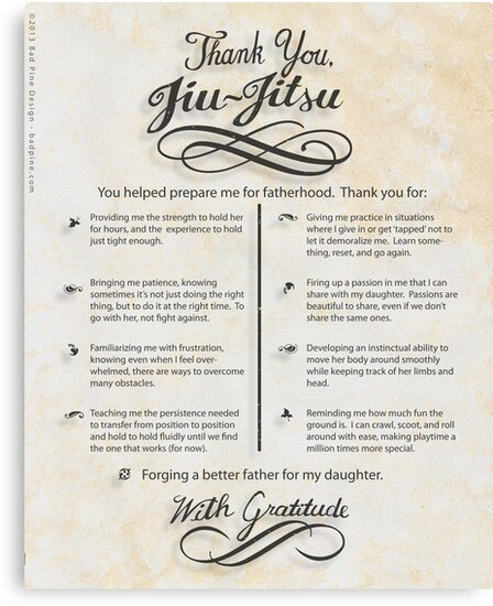 The TYJJ Manifesto (Thank You Jiu-Jitsu) DAUGHTER by BadPine