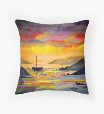 Sunset on the sea in West Cork Throw Pillow