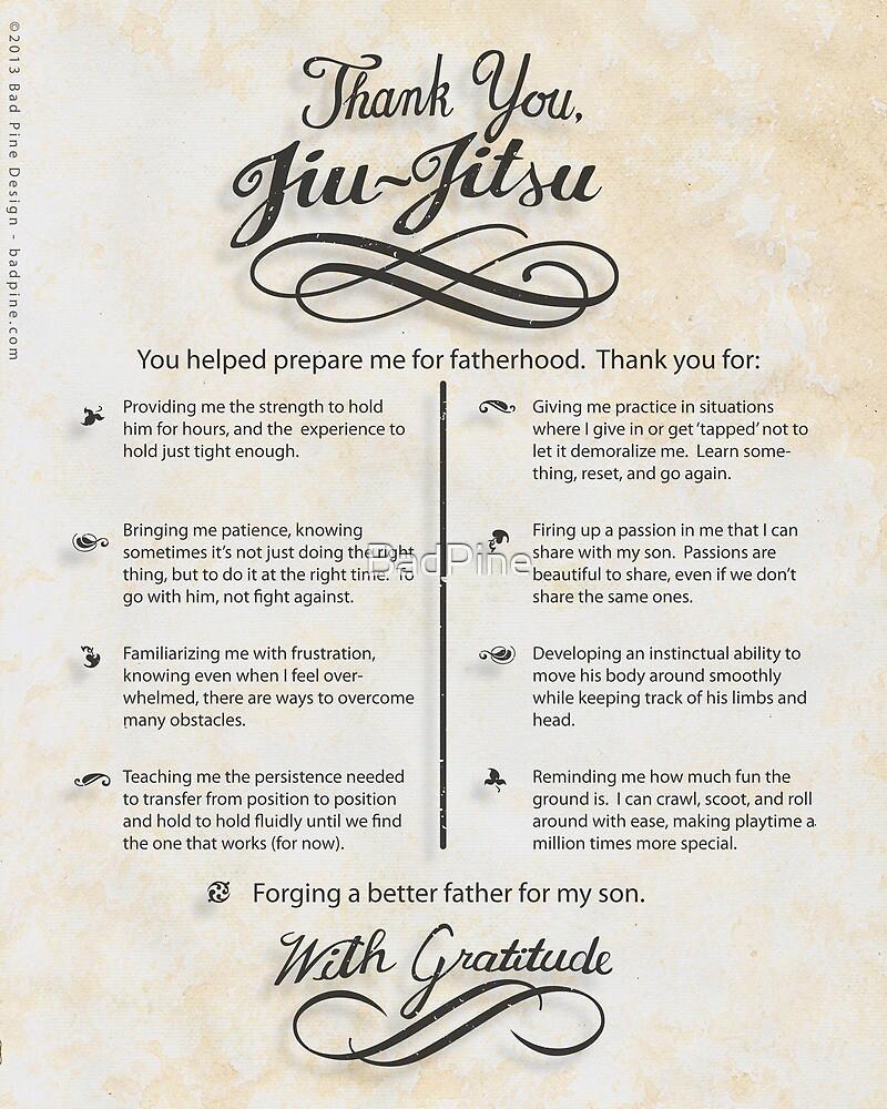 The TYJJ Manifesto (Thank You Jiu-Jitsu) SON by BadPine