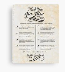 The TYJJ Manifesto (Thank You Jiu-Jitsu) SON Canvas Print