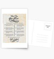 The TYJJ Manifesto (Thank You Jiu-Jitsu) SON Postcards