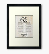 The TYJJ Manifesto (Thank You Jiu-Jitsu) NEUTRAL/PLURAL    Framed Print