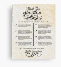 The TYJJ Manifesto (Thank You Jiu-Jitsu) NEUTRAL/PLURAL    Canvas Print