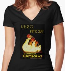 Cordial Campari Women's Fitted V-Neck T-Shirt