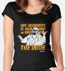The Dude (Big Lebowski) Women's Fitted Scoop T-Shirt
