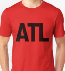 ATL Atlanta Black Ink Slim Fit T-Shirt