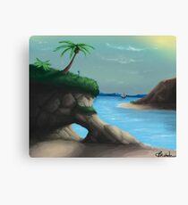 Black Flag Carribean Sea Canvas Print