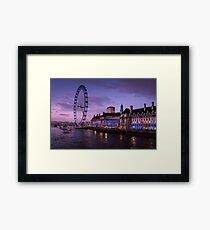 London Eye at Twilight Framed Print