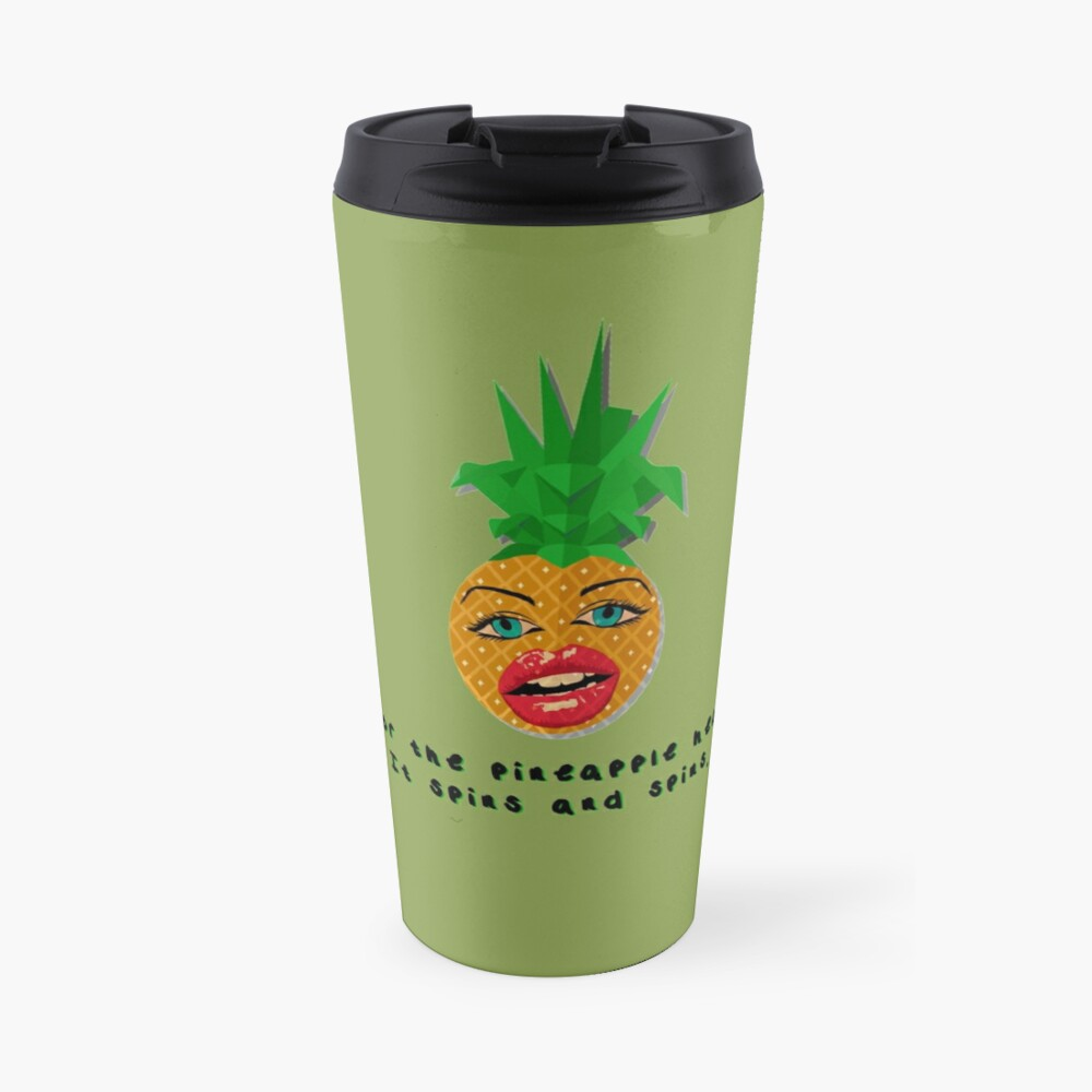 The Pineapple Head, It Spins - Crowded House Design Travel Mug