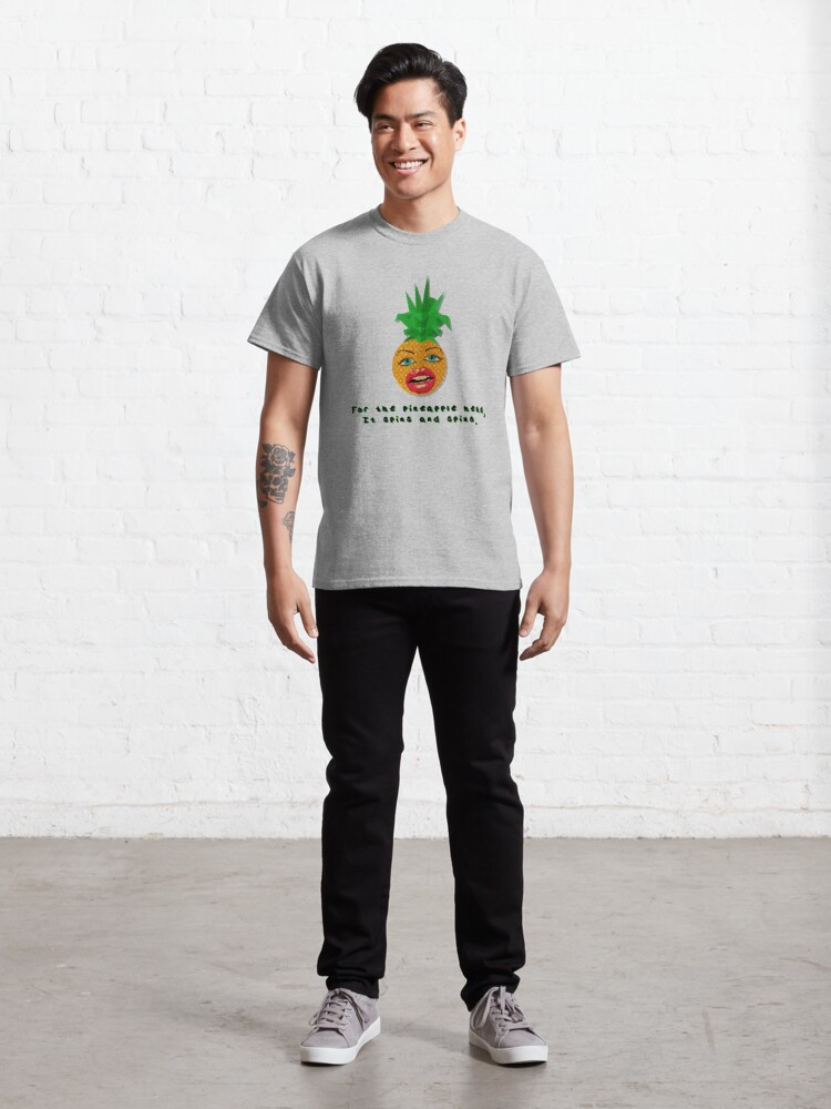 Alternate view of The Pineapple Head, It Spins - Crowded House Design Classic T-Shirt