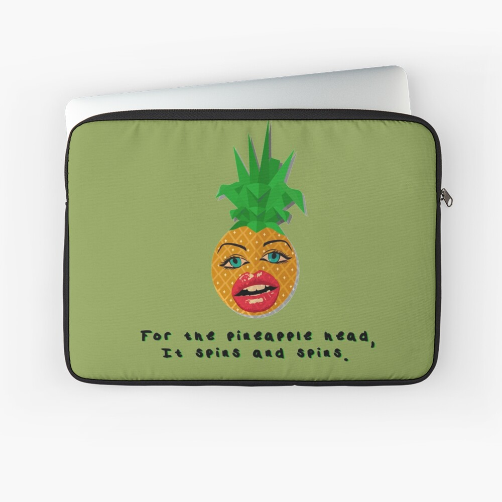 The Pineapple Head, It Spins - Crowded House Design Laptop Sleeve