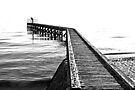 Alone on the pier by cclaude