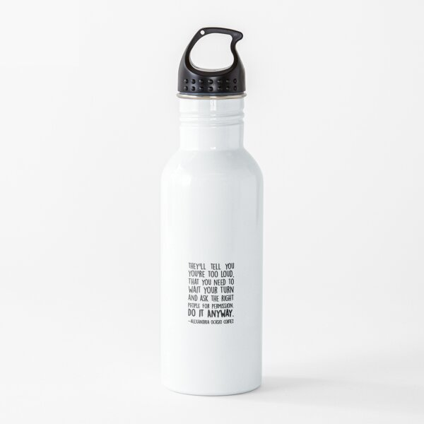 Alexandria Ocasio Cortez Permission Quote Water Bottle