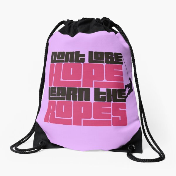 Climbing motivation Drawstring Bag