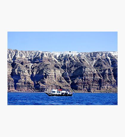 Below the Cliffs of Santorini Photographic Print