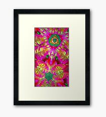 Psychedelic Poinsettia Framed Print