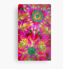 Psychedelic Poinsettia Metal Print