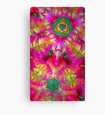 Psychedelic Poinsettia Canvas Print