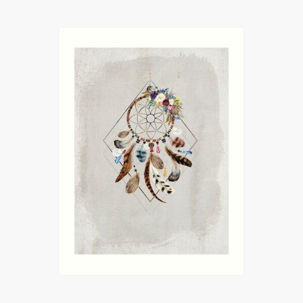 Tribal Dreams - Dreamcatcher Art Print