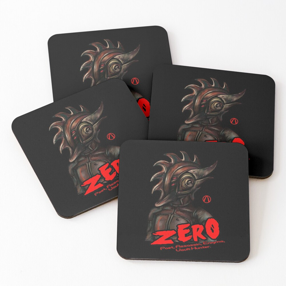 Borderlands 2 - Vault Hunter Zer0 the Assassin Coasters (Set of 4)