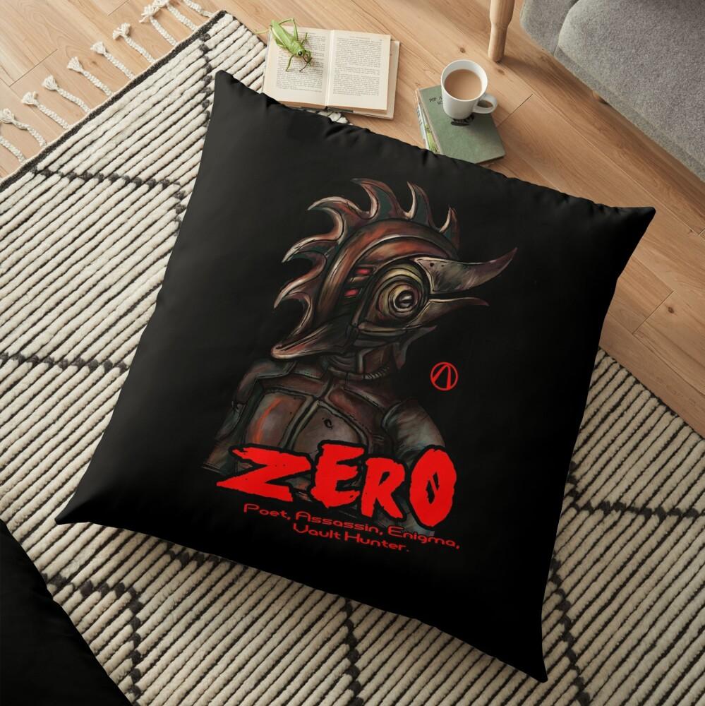 Borderlands 2 - Vault Hunter Zer0 the Assassin Floor Pillow