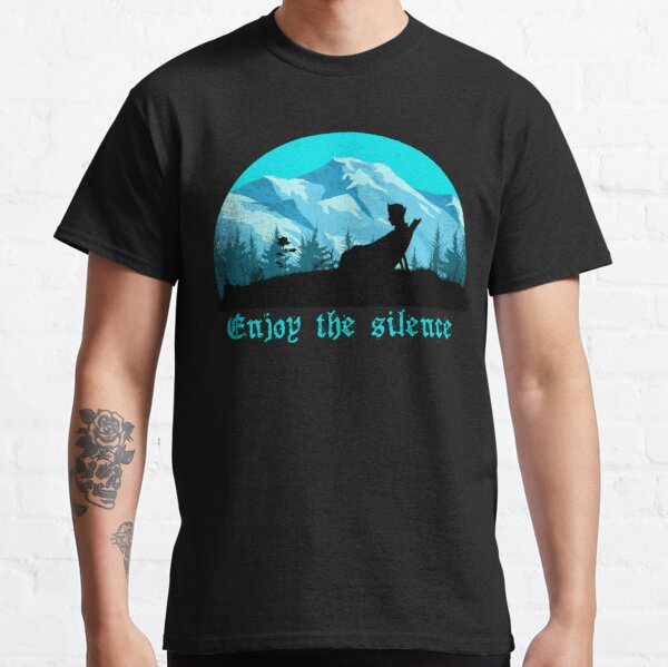 Enjoy the silence on the mountains message Classic T-Shirt