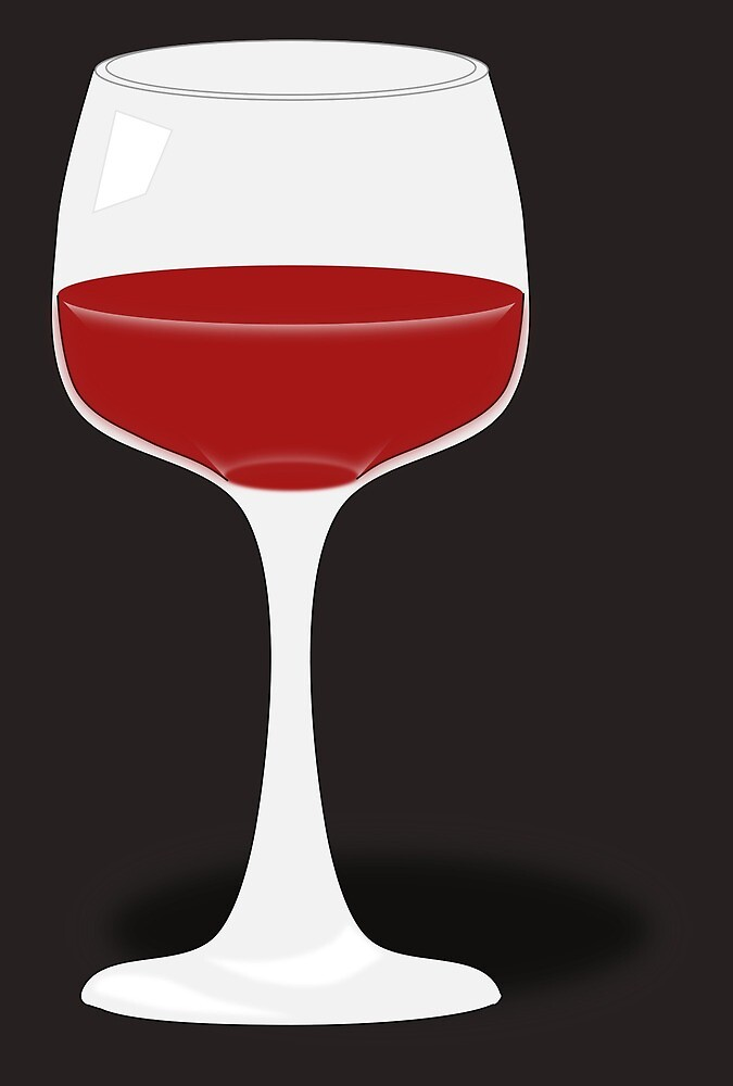 wine glass with red wine by greengoodnich