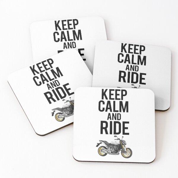 Keep Calm and Ride Honda Hornet Coasters (Set of 4)