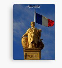 Paris Calendar Cover Canvas Print