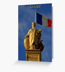 Paris Calendar Cover Greeting Card