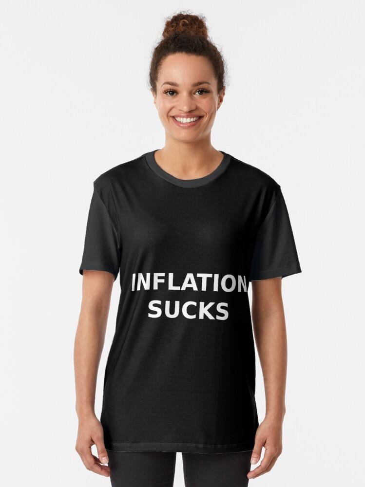 Alternate view of Inflation sucks Graphic T-Shirt