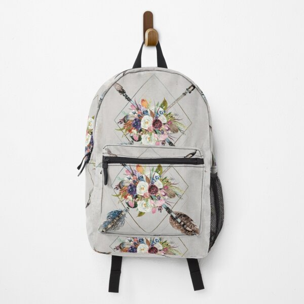 Tribal Dreams - Arrows and Flowers Backpack