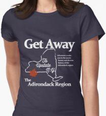Camiseta entallada para mujer Dirígete al norte del estado de Nueva York