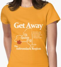 Get Away To Upstate New York Womens Fitted T-Shirt