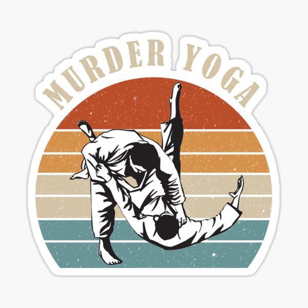 Murder Yoga Vintage Sticker