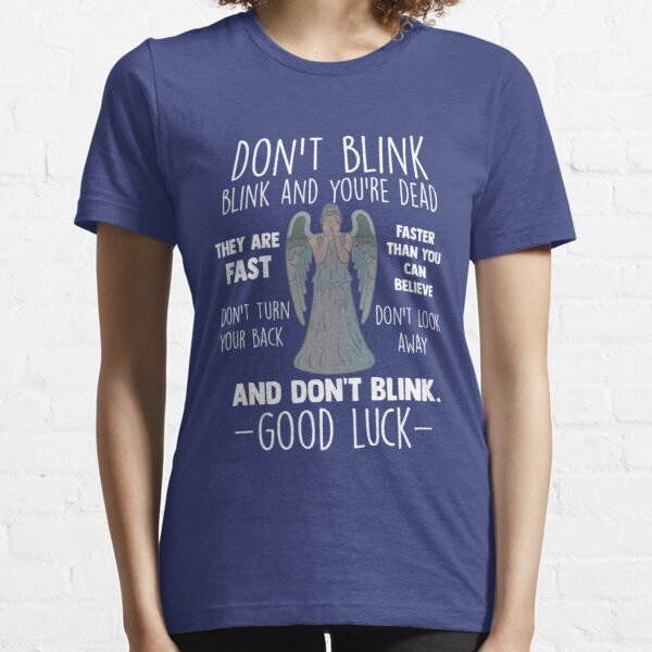 Doctor Who Weeping Angel Don't Blink Essential T-Shirt