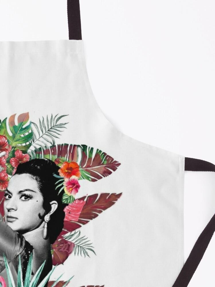 Vista alternativa de Delantal Lola Flores con Flamenco Rosa