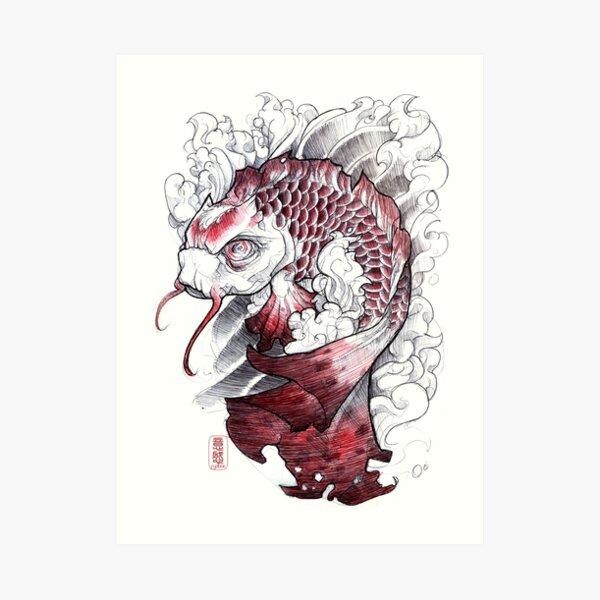 shigeki.zumi: tattoo sketchbook: 008 Art Print