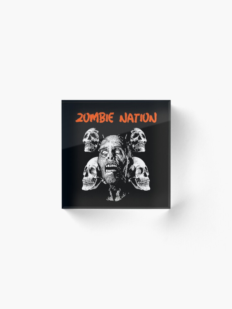 Alternate view of Zombie Nation Acrylic Block