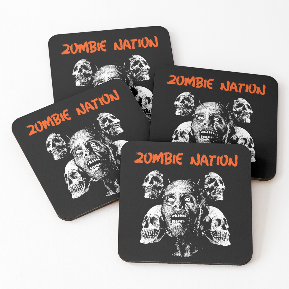 Zombie Nation Coasters (Set of 4)