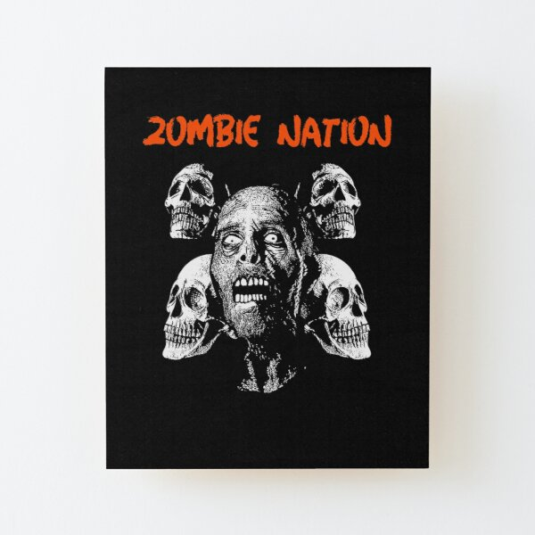 Zombie Nation Wood Mounted Print