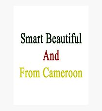 Smart Beautiful And From Cameroon  Photographic Print
