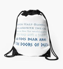 Prophecy of the Seven - Blue Drawstring Bag