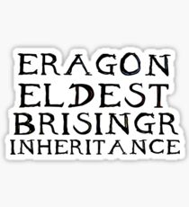 The Inheritance Cycle Typography Sticker
