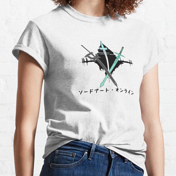 Schwertkunst Online, Kirito & Asuna, Kirito und Asuna Schwerter, Aincrad Schwerter, SAO Schwarz Classic T-Shirt