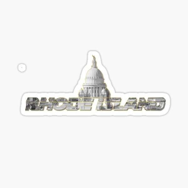 Rhode Island Capitol Text Design Sticker