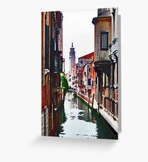 Canal View Greeting Card