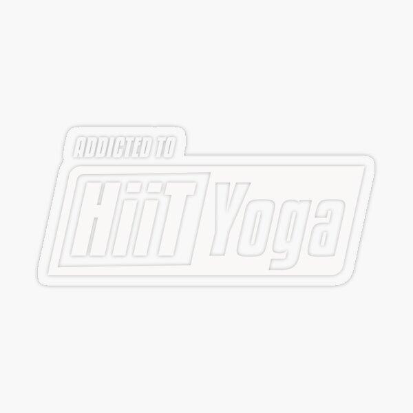 HiiT Yoga addicted to Transparent Sticker