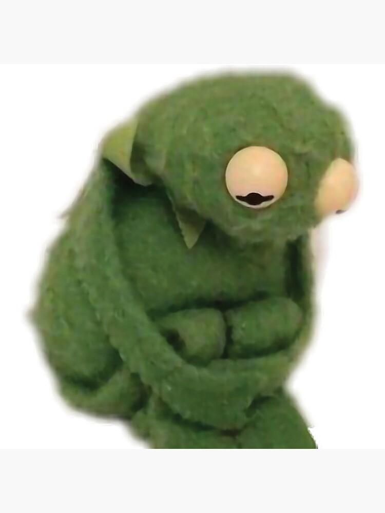 Sad Kermit Meme Postcard By Mash701 Redbubble